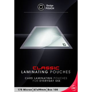 LAMINATING POUCHES BADGE POCKET PKT/100