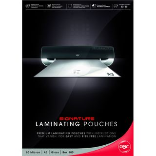 LAMINATING POUCHES GBC A3 80 MIC PKT100