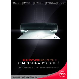 LAMINATING POUCH GBC A4 H/SPEED PK100