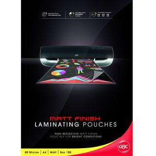 LAMINATING POUCH GBC A4 80MU MATT PK100