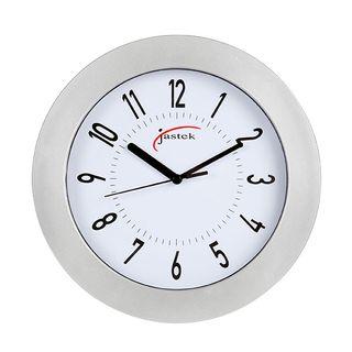 CLOCK SILVER 25CM CARVEN