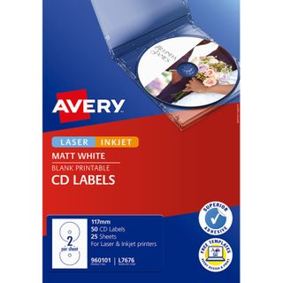 AVERY LABEL L7676 CD/DVD 2UP PK/25