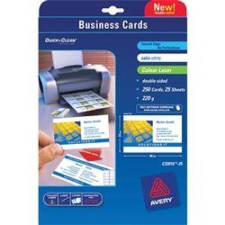 AVERY COLOUR BUSINESS CARDS C32016 PK25
