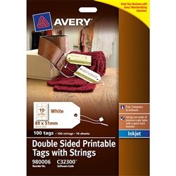 AVERY C32300 PRINTABLE TAGS 10UP PK/10