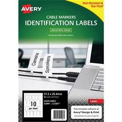 LABEL AVERY L7136LT DURABLE PRINTABLE CO