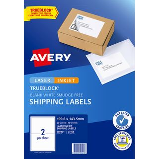 AVERY INTERNET LABELS L7168 2UP PK/10