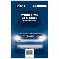 COLLINS DRIVING HOURS LOG BOOK A5