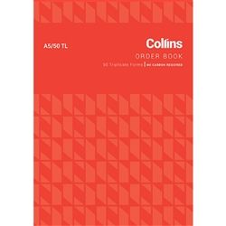 COLLINS ORDER BOOK A5/50TL