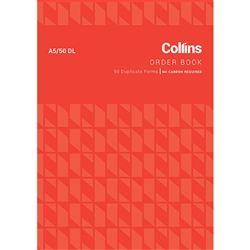 COLLINS ORDER BOOK A5/50DL