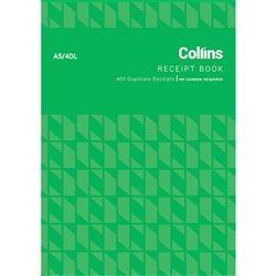 COLLINS CASH RECEIPT BOOK A5/4 DL