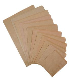 FLAT PAPER BAG #2 BROWN 165X195MM PK500