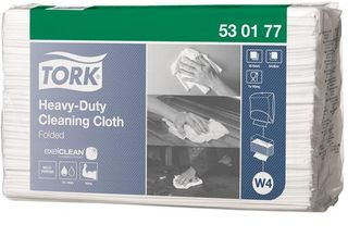 CLEANING CLOTH TORK HD W4 WHITE PKT/60