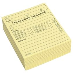 OLYMPIC TELEPHONE MESSAGE PAD YELLOW