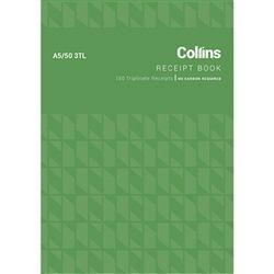 COLLINS CASH RECEIPT BOOK A5 A5/50 3TL