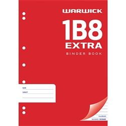 EXERCISE BOOK WARWICK 1B8-64 PUNCHED