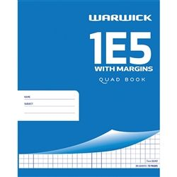 EXERCISE BOOK WARWICK 1E5 EXTRA WITH MAR