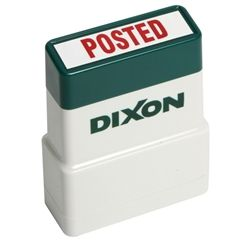 PRE INKED STAMP DIXON RED POSTED TEXT