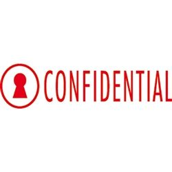 ROLLER STAMP COLOP CONFIDENTIAL RED