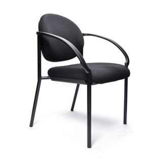 BURO ESSENCE GUEST CHAIR WITH ARMS BLACK