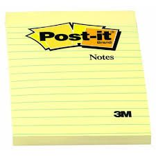 POST IT NOTES LINED 660 CANARY YELLOW