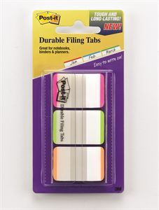 POST-IT DURABLE FILING TAB 686L-PGO 25MM