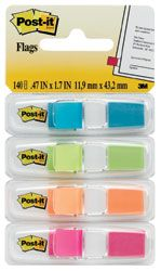 POST-IT MINI FLAG 683-4ABX BRIGHT