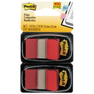 POST IT FLAGS 680-RD2 RED PKT/100