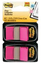 POST IT FLAGS 680-21 BRIGHT PINK PKT/100