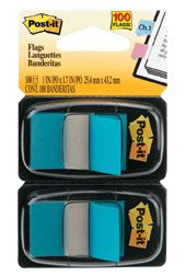 POST IT FLAGS 680-BB2 BRIGHT BLUE PKT100