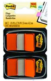 POST IT FLAGS 680-OE2 ORANGE PKT/100