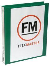 FM OVERLAY RINGBINDER GREEN A4 26MM 2D