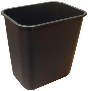 WASTE BIN BLACK 12L MARBIG ENVIRO