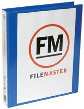 FM OVERLAY RINGBINDER MIDBLUE A4 26MM 3D