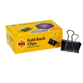 FOLDBACK CLIPS MARBIG 41MM BOX/12