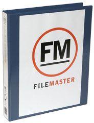 FM OVERLAY RINGBINDER NAVY A4 26MM 3D