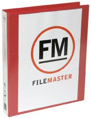 FM OVERLAY RINGBINDER RED A4 26MM 3D