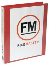 FM OVERLAY RINGBINDER RED A4 26MM 2D