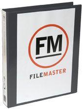 FM OVERLAY RINGBINDER BLACK A4 26MM 4D