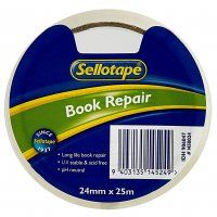 BOOK REPAIR TAPE SELLOTAPE 1450 24MMX25M