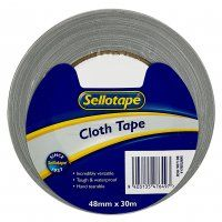 CLOTH TAPE SILVER 48MM X 30M SELLOTAPE
