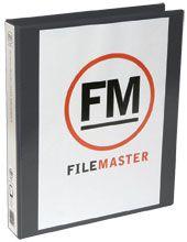 FM OVERLAY RINGBINDER BLACK A4 38MM 2D