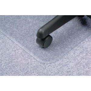 CHAIRMAT GLASS CLEAR 1140 X 1340MM LARGE