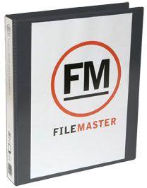 FM OVERLAY RINGBINDER BLACK A4 38MM 3D