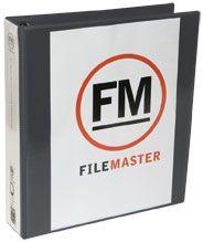 FM OVERLAY RINGBINDER BLACK A4 38MM 4D