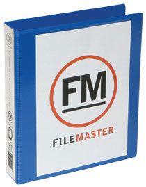 FM OVERLAY RINGBINDER MIDBLUE A5 26MM 2D