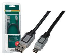 USB CABLE DIGITUS BLACK 1.8M MINI 2.0 5