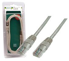 PATCH LEAD DIGITUS GREY 10M UNSHIELDED