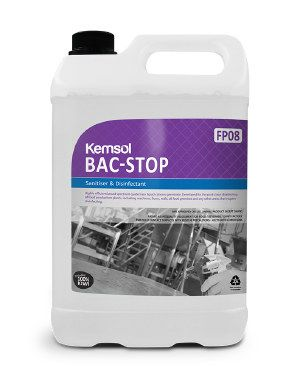 Kemsol Bac-Stop Sanitiser Disinfectant 5 Ltr