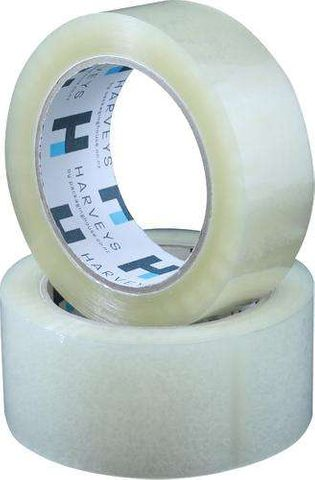 Harveys Packaging Tape Acrylic Clear 48mm x 100m Roll