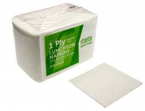 Emperor Napkin Luncheon 1/4 Fold White 1 Ply